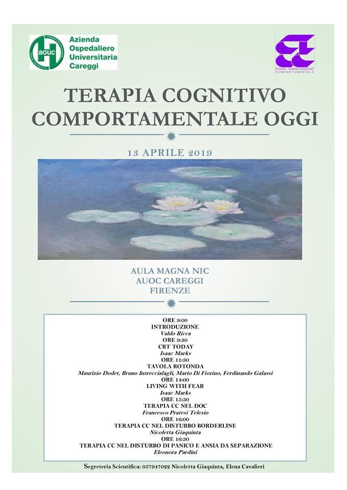 Terapia Cognitivo Comportamentale Oggi